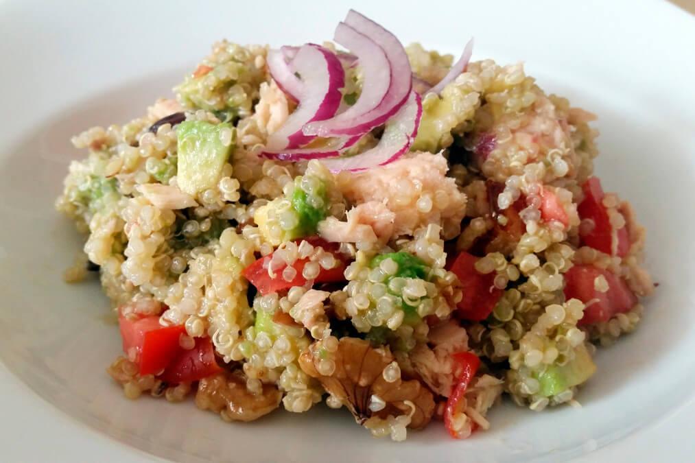 Quinoa atún cebolla