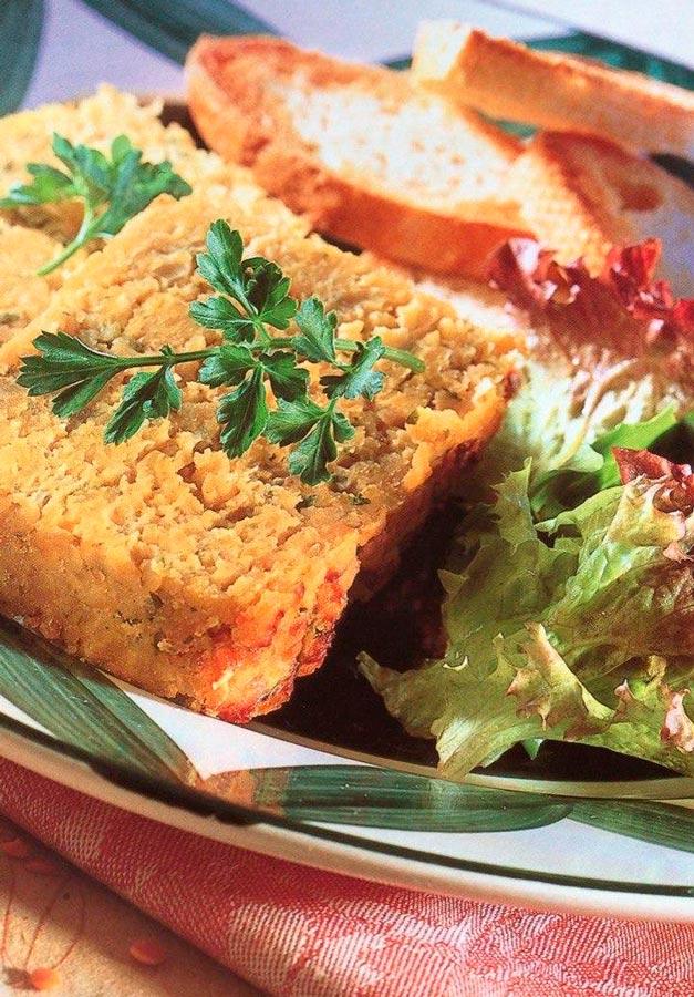 receta de paté de lentejas